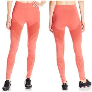 Oiselle Juno Leggings in Coral Orange